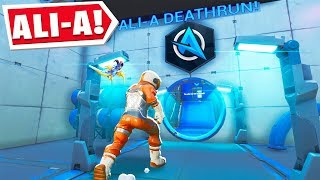 So I Played Ali-A's DEATHRUN Map! (Fortnite Creative Mode)