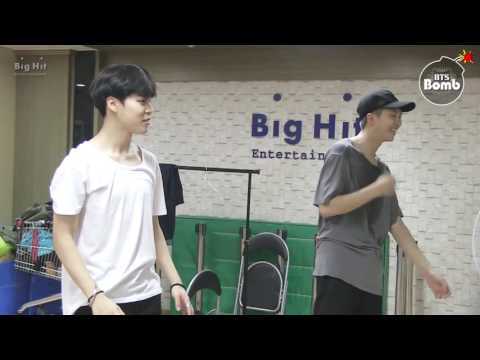 BTS Jin and Rapmon dance practice for (BTS DAY PARTY 2016 )