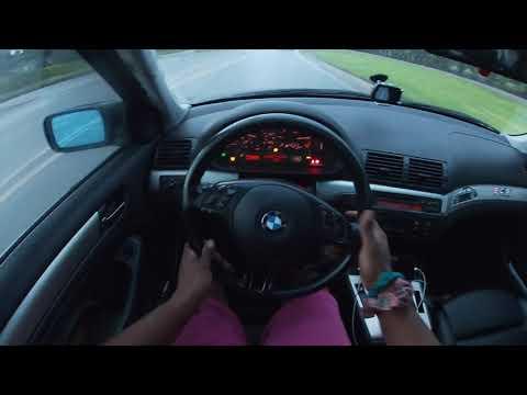 Street drifting a BMW E46 in the rain.