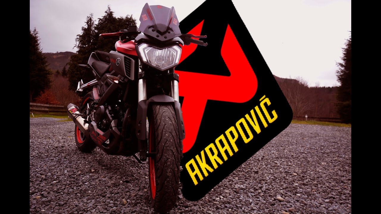 mt 125 racing akrapovic youtube. Black Bedroom Furniture Sets. Home Design Ideas