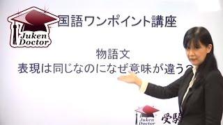 中学受験ドクターでは、国語読解方程式を用いた、国語のワンポイント講...
