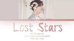 정국 (Jungkook) - Lost Stars Cover (Eng) Color Coded Lyrics