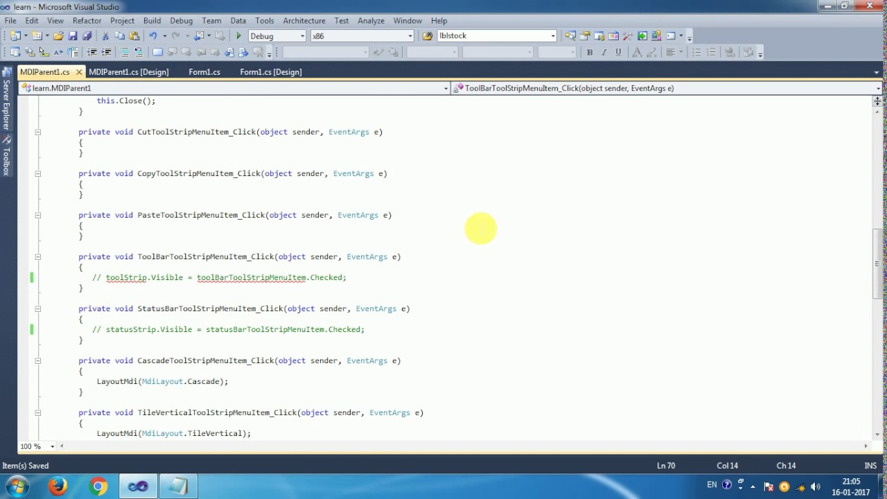 Syncfusion tutorial #3 tabbed mdi manager syncfusin and visual.