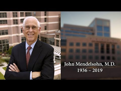 Honoring the legacy of MD Anderson's John Mendelsohn, M.D.