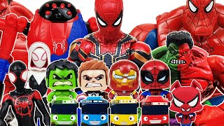 Iron Man & Spider-Man, Miles Morales, Gwen Go~! Avengers, Hulk, Captain America, Tayo, Venom