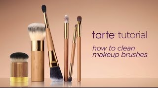 tarte tutorial: how to clean makeup brushes Thumbnail