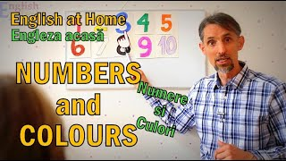 Learn English at Home - NUMBERS and COLOURS - Invata Engleza acasa
