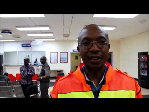 Parks Tau visiting the victims of the Grayston Bridge Collapse