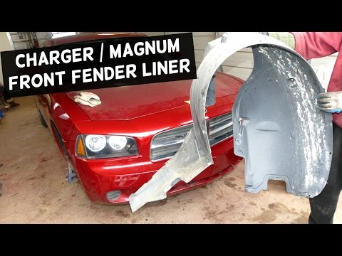 DODGE CHARGER FRONT FENDER LINER REMOVAL REPLACEMENT | DODGE MAGNUM