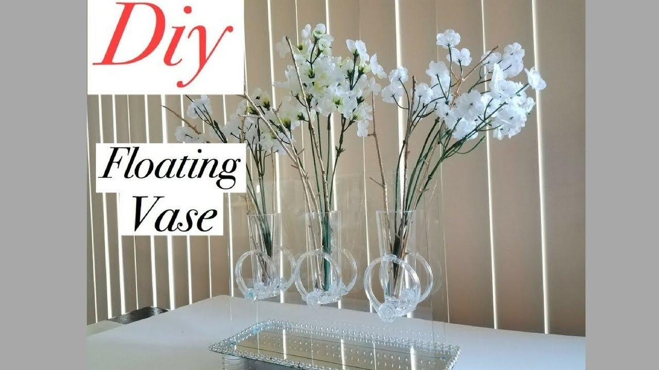 Diy Mirror Table Decor Floating Vase Using Dollar Store
