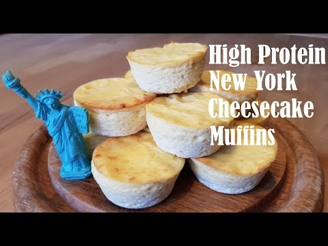 High Protein New York Cheesecake Muffins Rezept Nährwerte Youtube