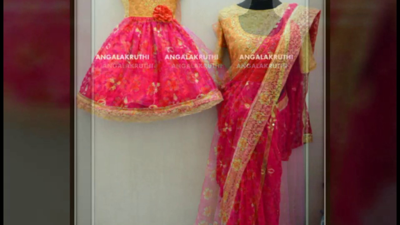 Mom And Me Dress Designs With Indian Tradational Style By