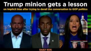 Trump minion gets a lesson on implicit bias after trying to derail the conversation to GOP politics