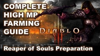 Diablo 3: DEMON HUNTER RoS Prep Farming Guide - High MP Spec, Route & Gearing
