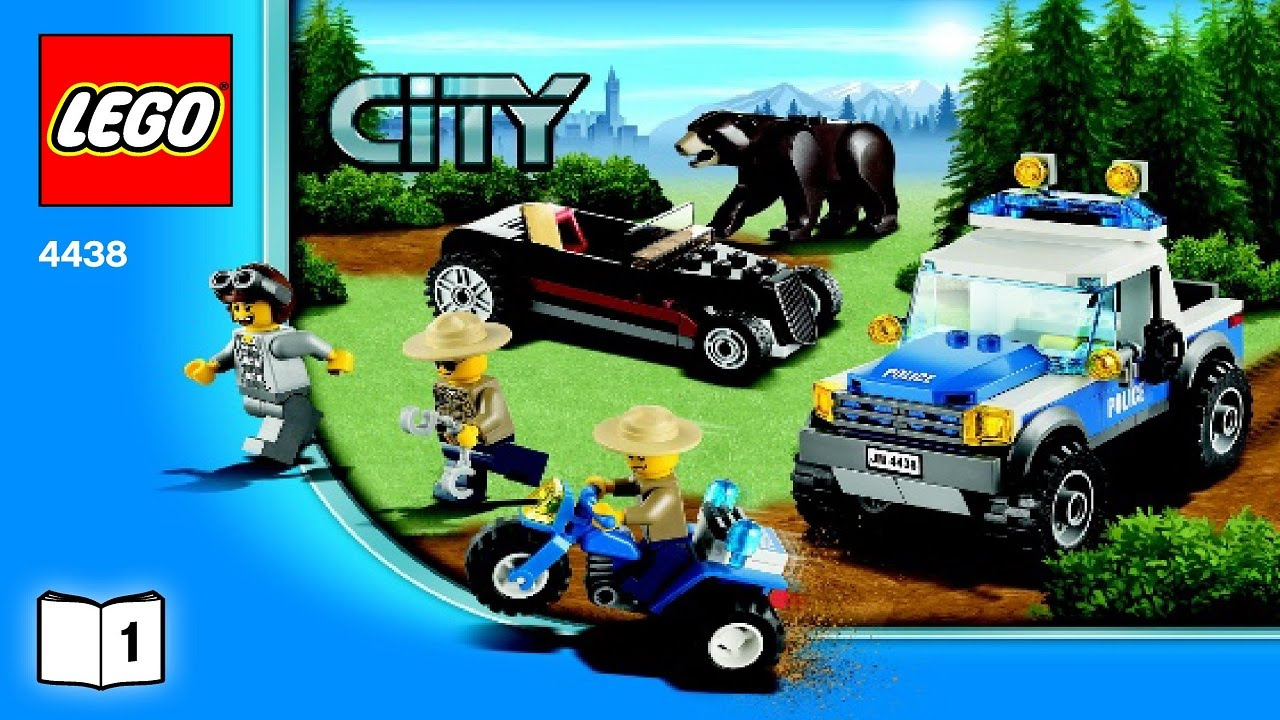 Lego 4438 Robbers Hideout City Police Instruction Booklet Youtube