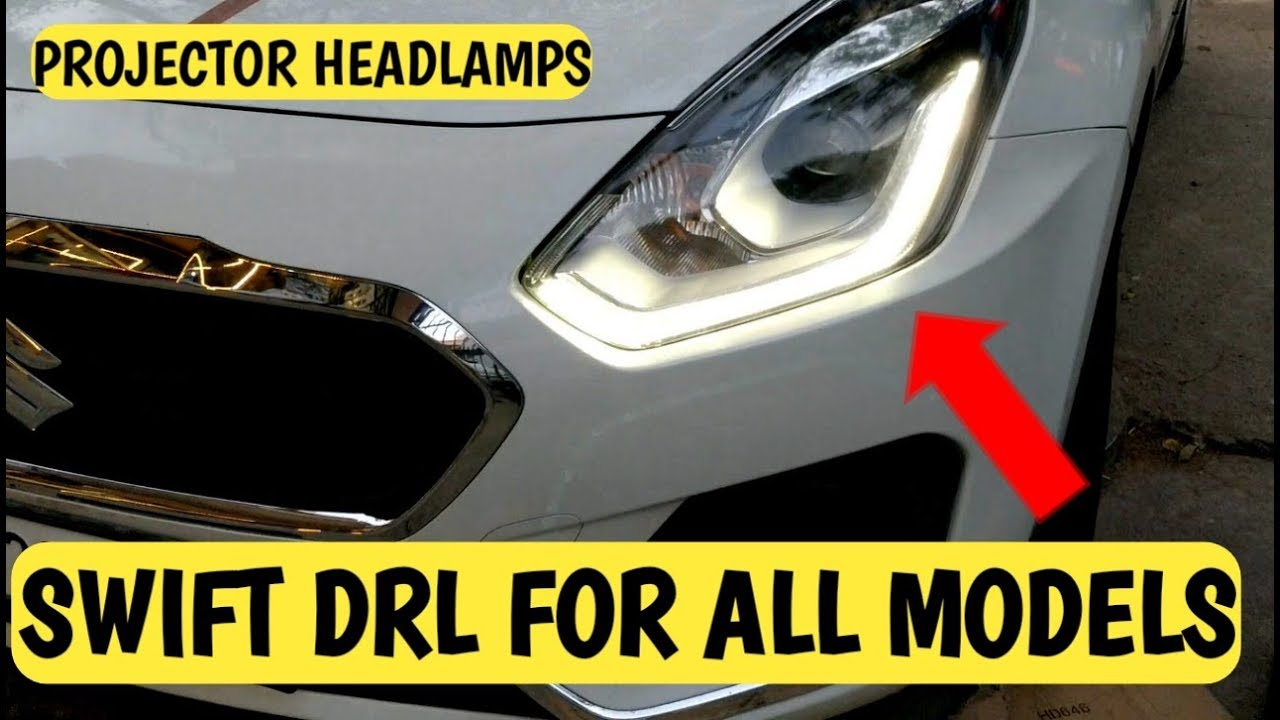 Install Swift Dzire Zxi Drl Headlamps In Vdi Vxi Ldi Lxi Headlights Without Wiring Diagram