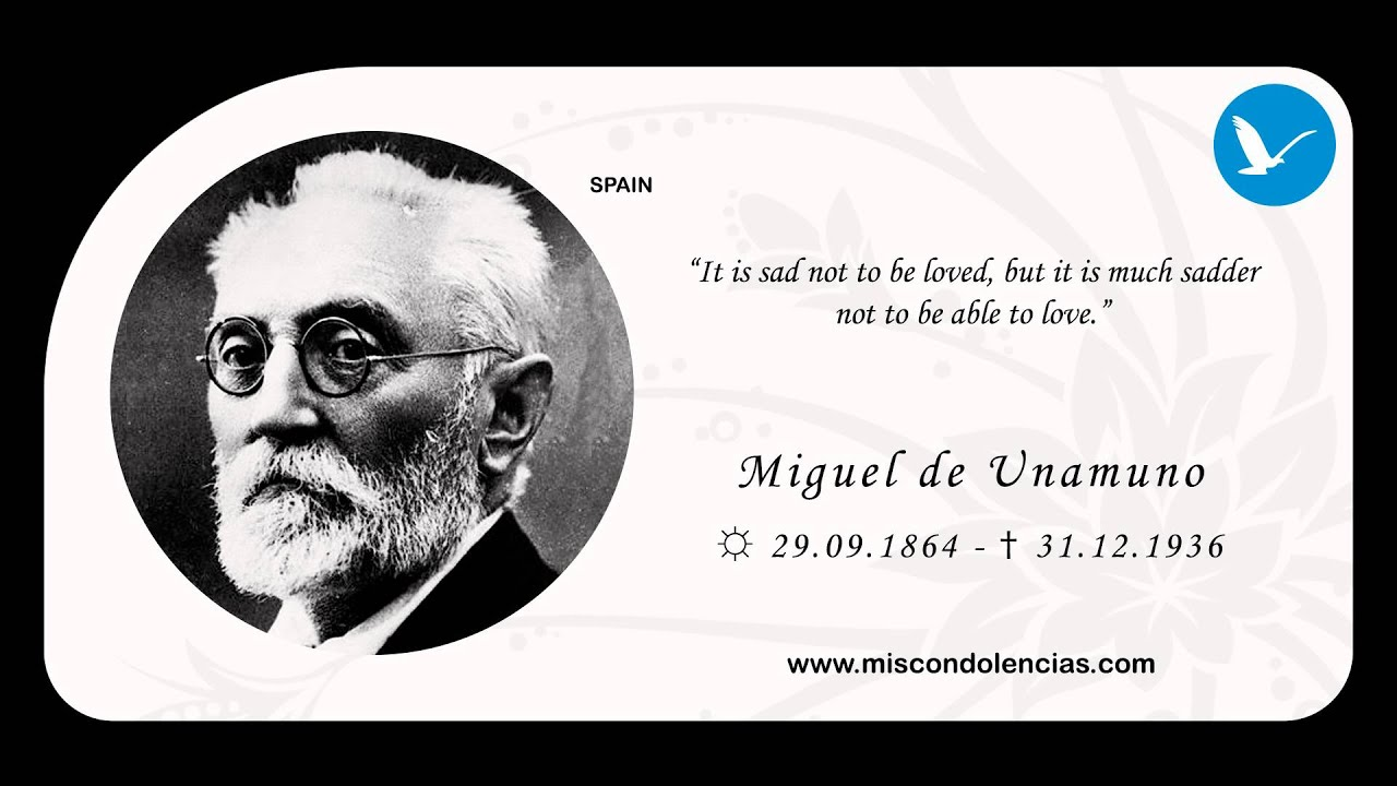 miguel de unamuno essay Saint manuel bueno, martyr (san manuel bueno, martir) by miguel de unamuno if it is for this life only that christ has given us hope, we of all men are the most.