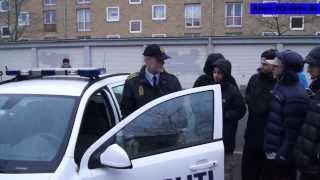 02.01.14 Politibil smadret ved højlys dag på Motalavej i Korsør.