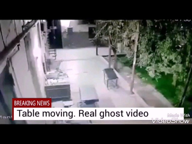 Table Moving by own. Real ghost video capture
