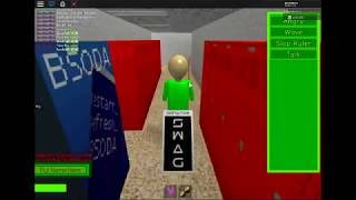 BALDIS ROBLOX BASICS IN EDUACATION AND VIDEOGAMES pt 2 (roleplay) GOTTA DRUM DRUM DRUM!!!