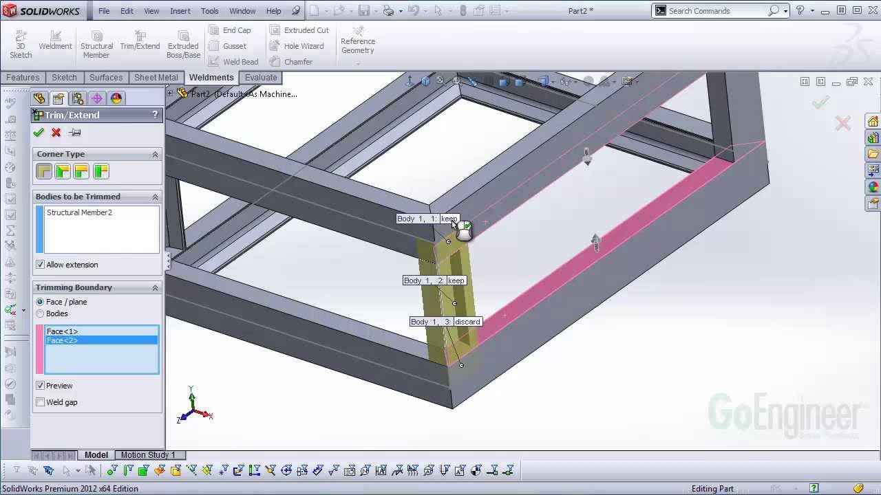 Solidworks Quick Tip Weldments Basic Tools And Methods