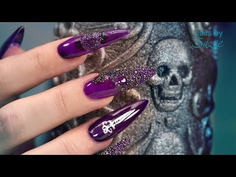 Goth •Special• Sculpted Acrylic Nails 🗡️