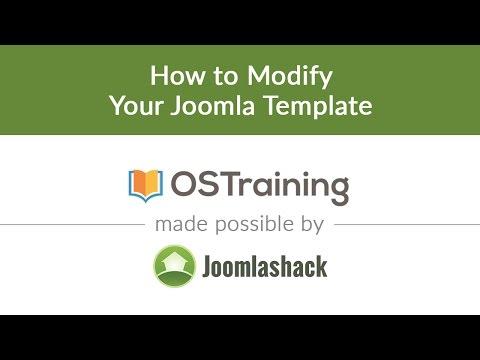 Joomla Beginner Class, Lesson 35: How To Modify Your Joomla Template