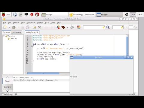 Hello World Qt5 on Raspberry Pi/Raspbian (with GUI widgets)