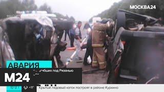 Смотреть видео Число погибших в ДТП с микроавтобусом под Рязанью увеличилось до 7 - Москва 24 онлайн