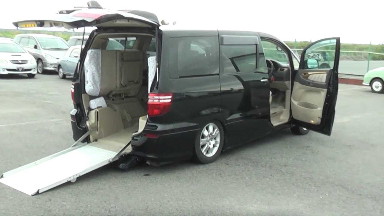 Toyota Alphard Wheelchair / Sloper Welcab Vehicle for sale @ Edward ...
