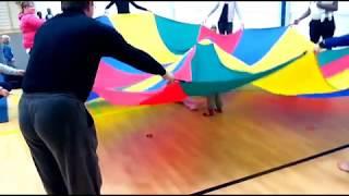 Детские игры в спорт зале Большой батут для детей Весёлые Развлечения для детей и малышей