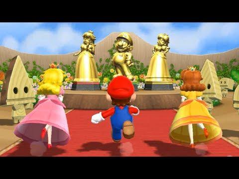 Mario Party 9 -  Step It Up 1-vs. Rivals - Mario, Peach, Daisy vs Luigi | Cartoons Mee