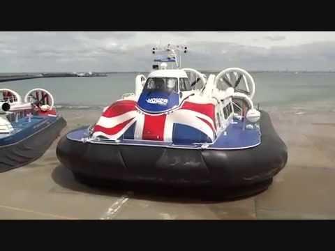 Hovertravel's first Griffon 12000TD hovercraft 'Solent Flyer' on trials at Ryde.