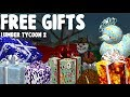 Giving away CHRISTMAS GIFTS to players in lumber tycoon 2 - Roblox. *Shop catalog included