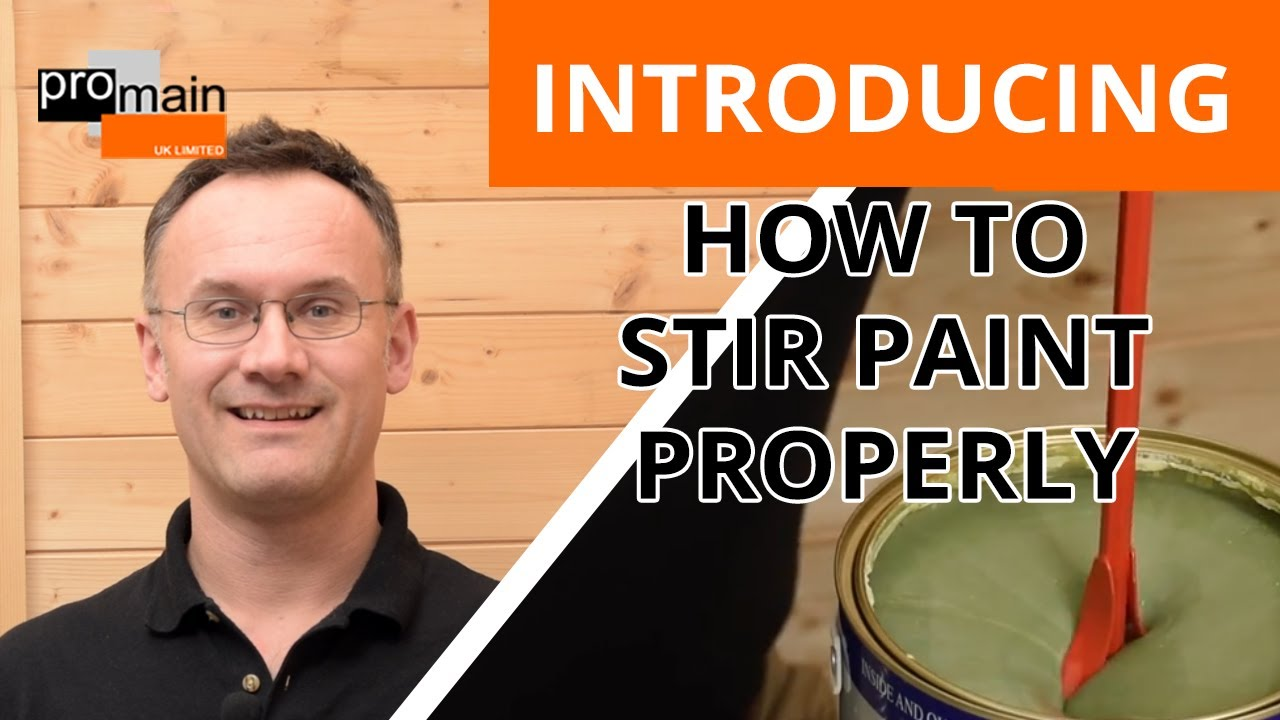 how to stir paint stirring paint properly youtube