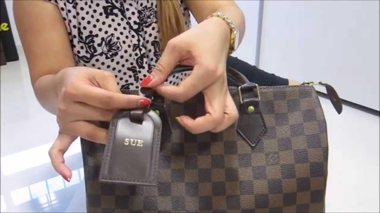 26c4c3e1abe7 How to put the LV Luggage Tag onto your LV Speedy 30~!!! - YouTube