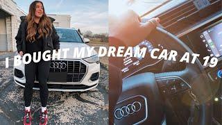 BUYING MY DREAM CAR AT 19 (car shopping + car tour)