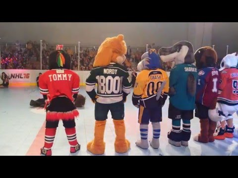 2016 NHL All-Star Weekend Mascot Showdown - The Dance Off