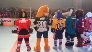 2016 NHL All-Star Weekend Mascot Showdown - The Dance Off
