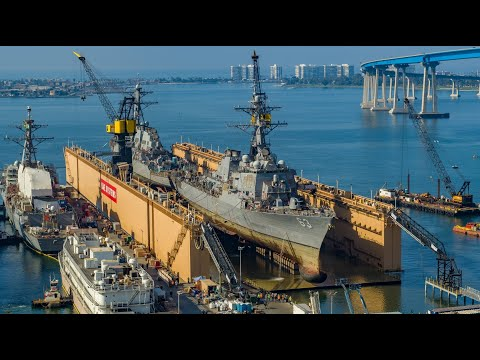BAE Systems Simultaneously Docks Two U.S. Navy Destroyers