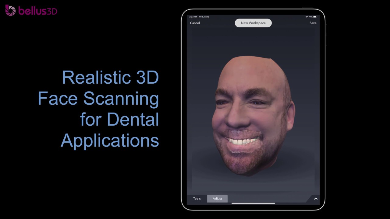 Bellus3D Dental: Realistic 3D face scanning for dental applications