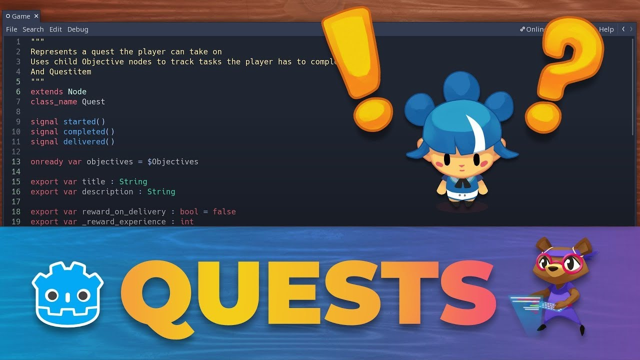 Refactoring code in Godot: Quest System Overview