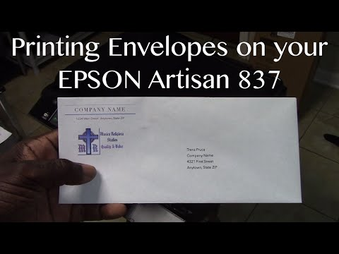 How to Print on Envelope Using Rear Paper Feed (Epson XP ...