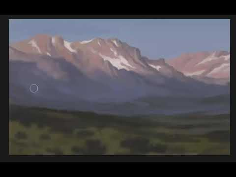 Painting digital mountains in Photoshop