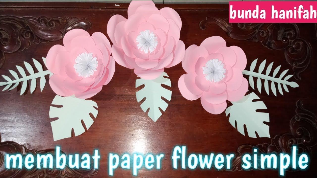 Cara Membuat Paper Flower Sederhana Ll Diy Paper Flower Simple Ll Youtube Cara membuat paper flower
