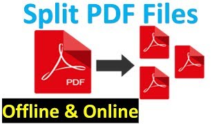 How to split a PDF document into multiple files | Splitting PDF Pages