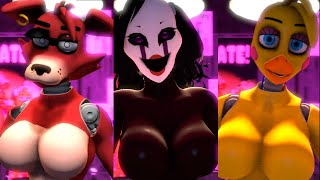 [SFM FNAF] Foxy, Puppet, Chica Sexy Jumpscare Compilation