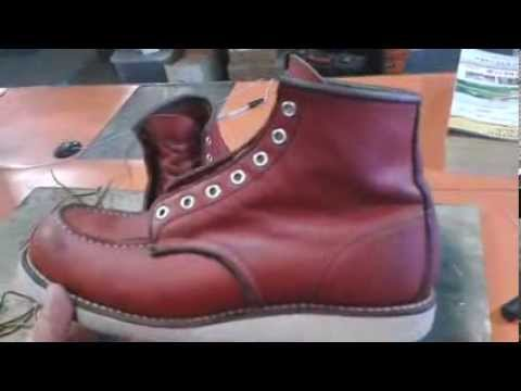 How To Clean Red Wing Leather Boots Youtube