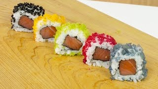 Coloured Tempura for Sushi - Sushi Cooking Ideas #5