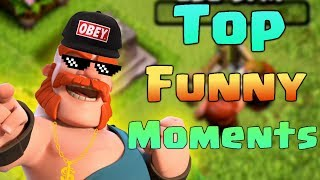 TOP COC Funny Moments, Glitches, Fails and Trolls Compilation | CLASh OF CLANS Funny Video